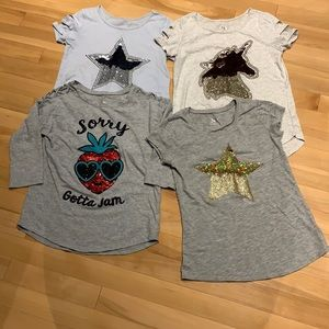 4 Girl's Justice Short sleeve Tees bundle-size 12